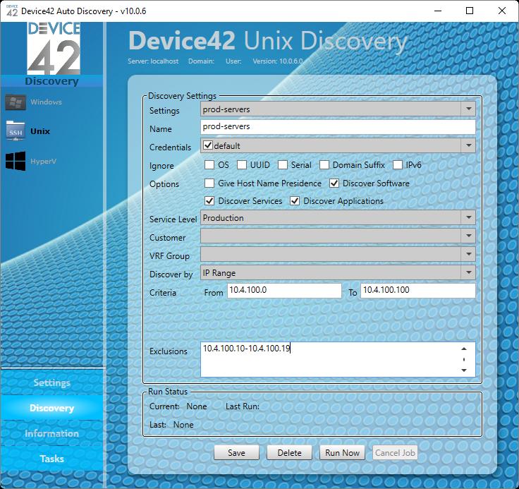 Device42 AutoDiscovery