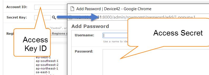 Save Amazon Key ID and Secret