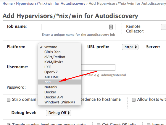 Setting up *nix based auto-discovery