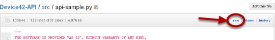 2. Download the sample script (api-sample.py)