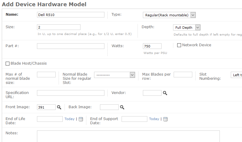 Hardware Model properties