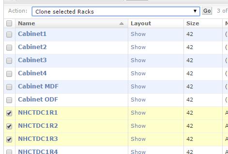 Clone select racks
