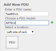 Visually adding pdus to the rack from the rack layout screen