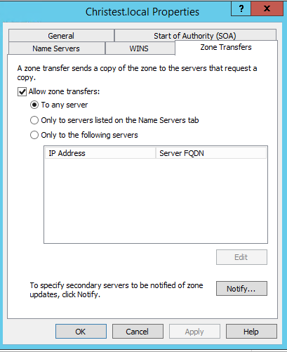 1. Allowing zone transfer from your DNS server to device42 virtual appliance IP.