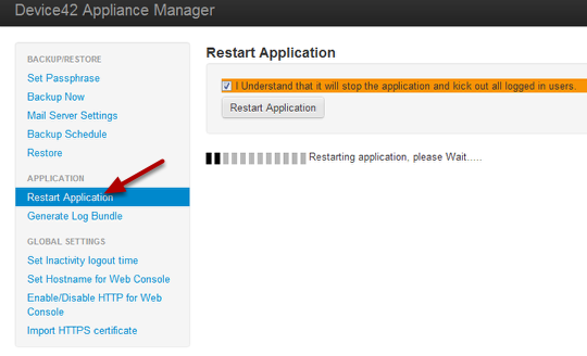 Restart the Application