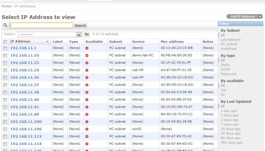 Uploaded data in Device42 appliance.