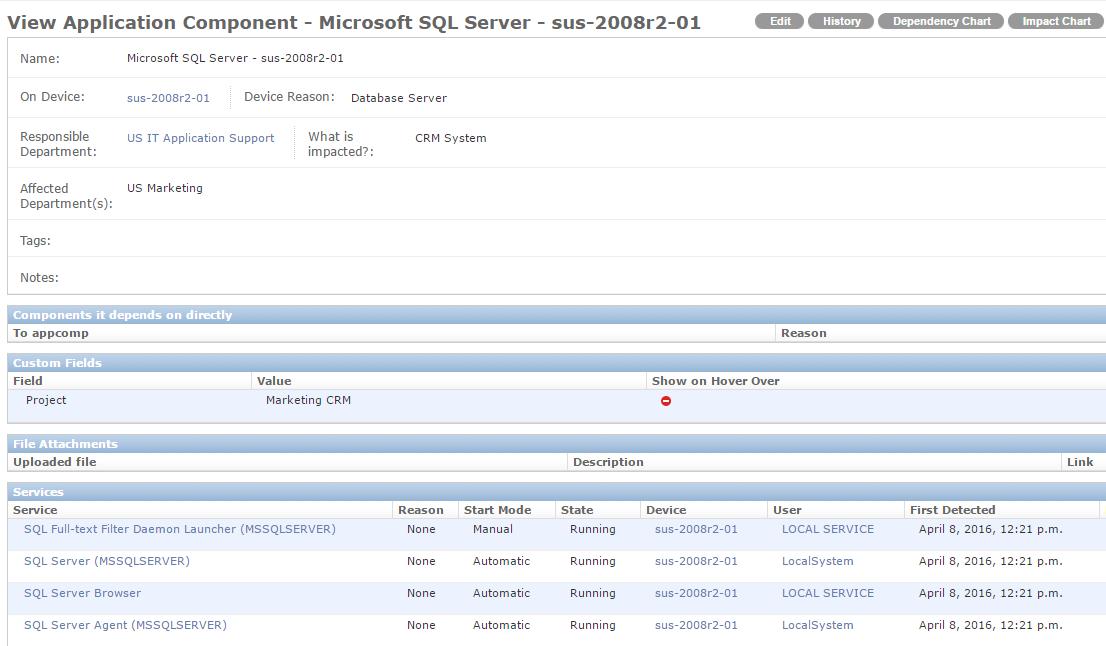 Application Component Details