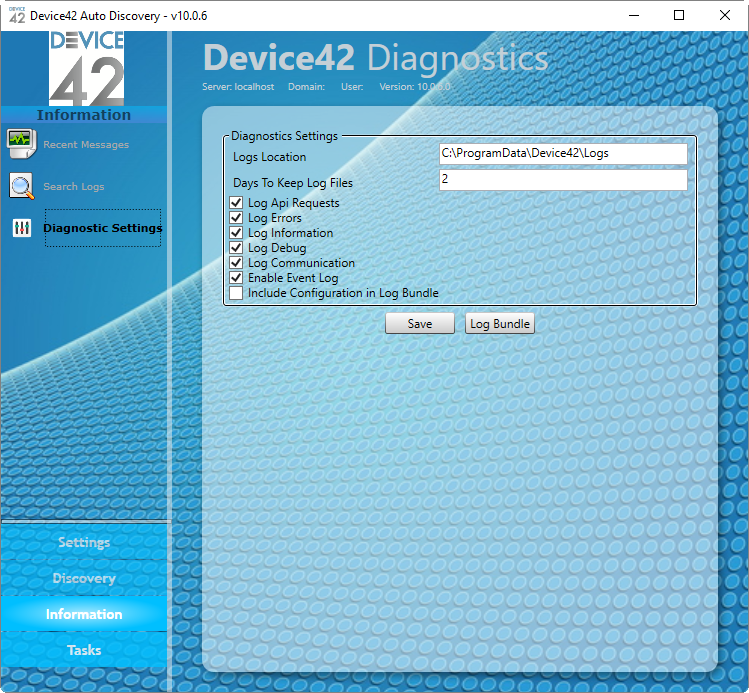 Diagnostic Settings