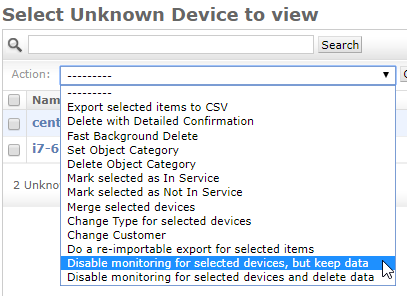 Select Unknown Device to View