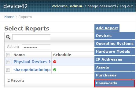 Password Reporting