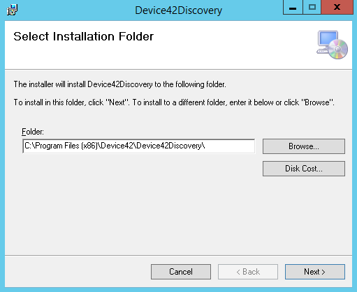Select Install Path
