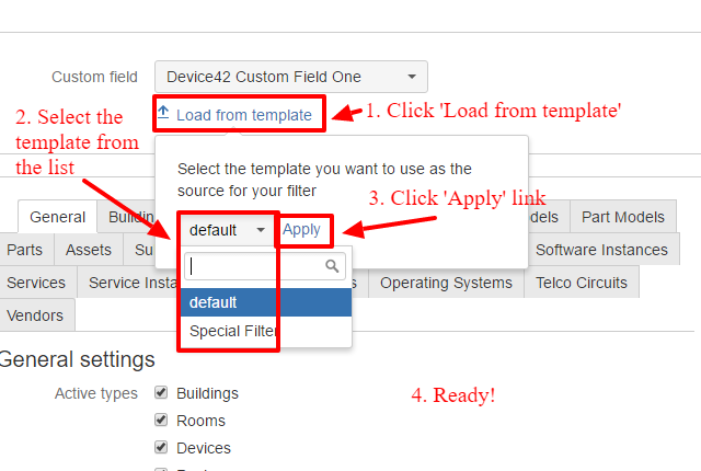 Load Filter Template