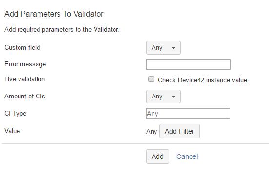 Validator Configuration