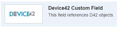 Look for Device42 Custom Field