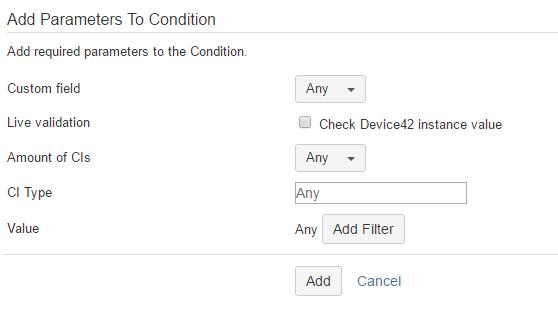 Condition Configure