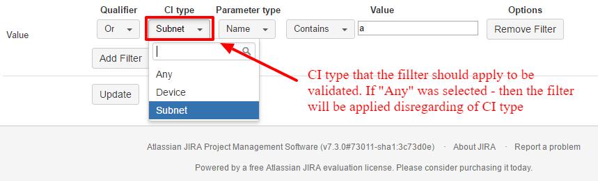 Filter CI Type