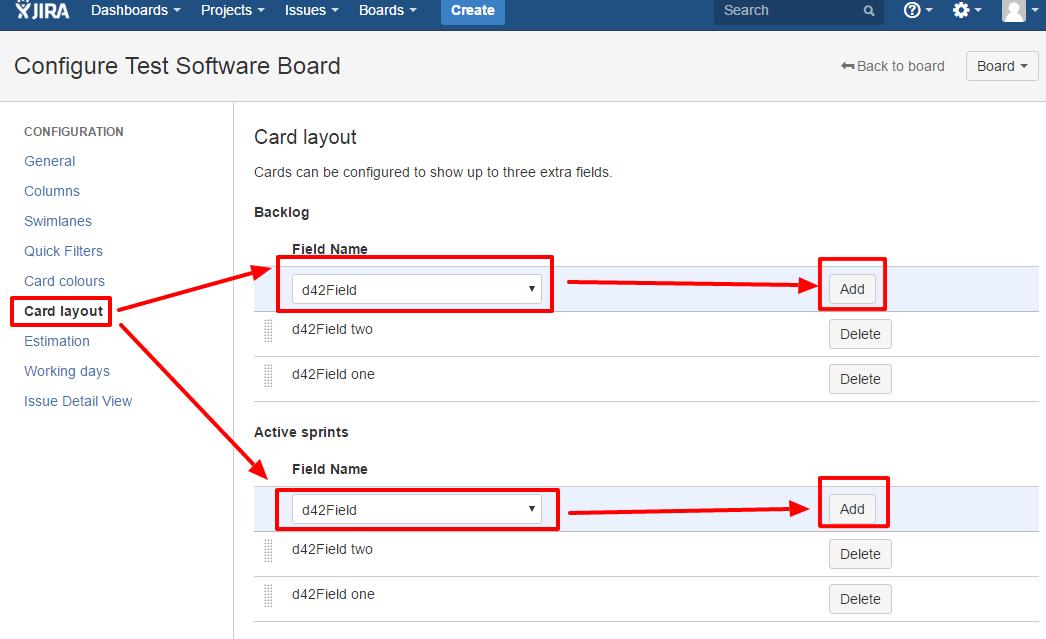 Configure layout