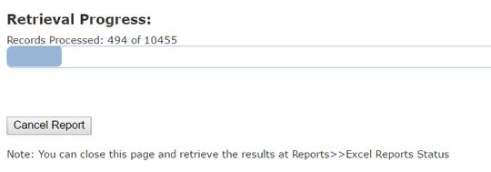 Report Status Tab