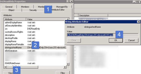 An example - how to get Group DN in Active Directory