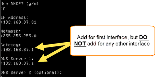 First interface vs. other interfaces