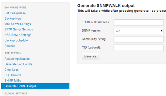 Collect SNMPWALK output