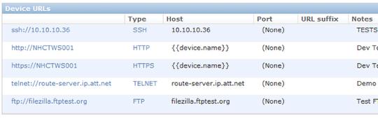 Device URLs