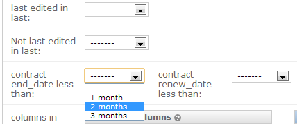 Date based filtering