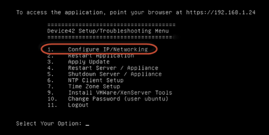 Configure an IP address