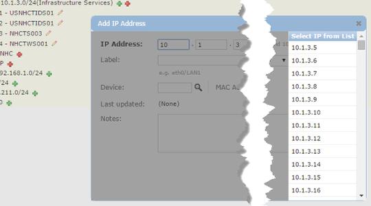 Add / edit IPs per subnet